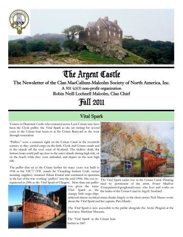 The Argent Castle - Clan MacCallum-Malcolm Society of North ...