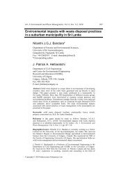 Environmental impacts with waste disposal practices in a suburban ...
