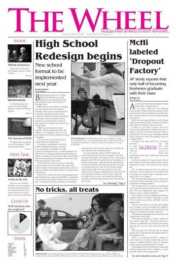 High School Redesign begins - McAllen High School