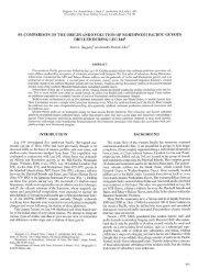 53. COMPARISON OF THE ORIGIN AND EVOLUTION OF ...
