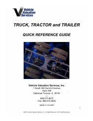 TRUCK, TRACTOR and TRAILER - Vehicle Valuation Services