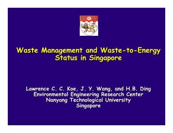 Waste Management and Waste-to-Energy Status in ... - WTERT