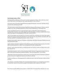 Stop dumping surplus on Africa - IDF World Dairy Summit 2012