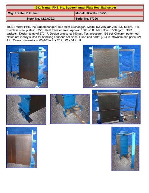 Superchanger Plate Heat Exchanger - Genemco, Inc