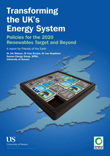 Report: Transforming the UK's Energy System - Friends of the Earth