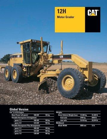 Specalog for 12H Motor Grader, AEHQ5515-01