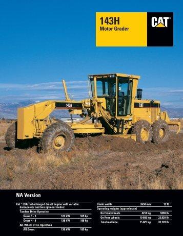 143H NA Motor Grader : AEHQ5267 - Kelly Tractor