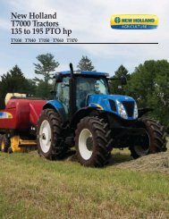 New Holland T7000 Tractors 135 to 195 PTO hp
