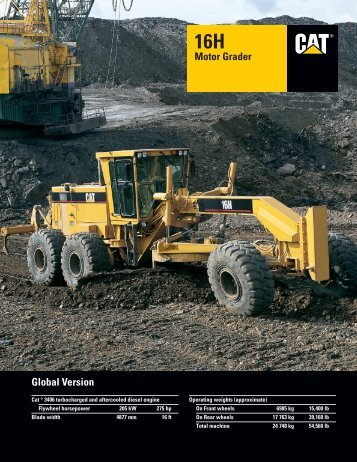 16H Global Motor Grader : AEHQ5272 - Kelly Tractor