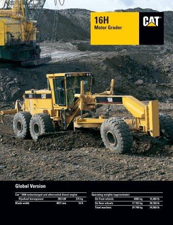 16H Global Motor Grader : AEHQ5272 - Kelly Tractor
