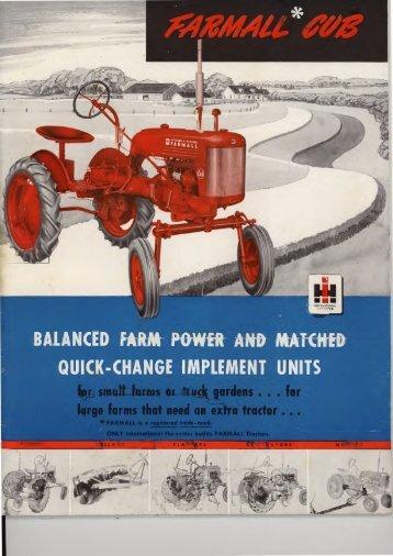 Farmall Cub Brochure - Antique Farming
