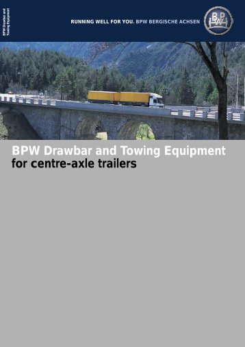 BPW Drawbar and Towing Equipment for centre ... - Auto Brand SRL