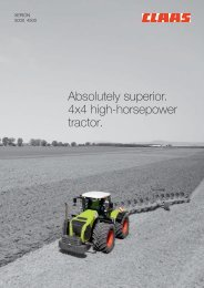 Absolutely superior. 4x4 high-horsepower tractor. - CLAAS.com