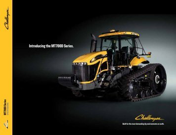 Introducing the MT700D Series. - Challenger