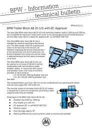 BPW Trailer Block AB 20-1/G with EC Approval