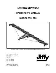 HARROW DRAWBAR OPERATOR'S MANUAL MODEL 570, 580