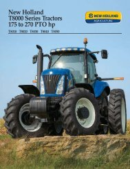 New Holland T8000 Series Tractors 175 to 270 PTO hp
