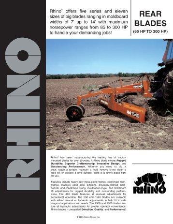 Heavy Duty Rear Blades - Rhino