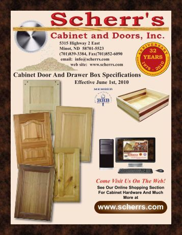 Cabinet Door And Drawer Box Specifications - Scherr's Cabinet and ...