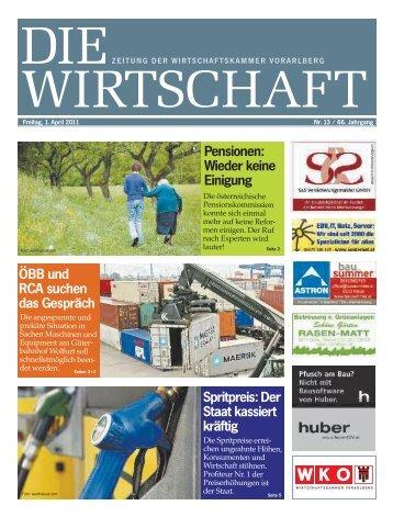 Die Wirtschaft Nr. 13 vom 1. April 2011