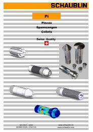 Pinces Spannzangen Collets Swiss Quality - Servo Vision Co.,Ltd.