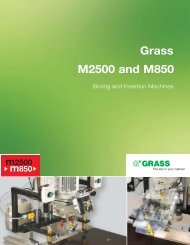 Grass M2500 and M850 - Grass America, Inc.