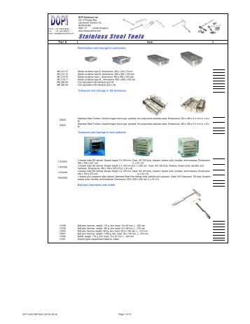 CAT Tools DOP Item List Ver 26 - DOP Solutions