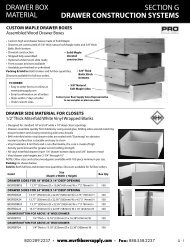 section g - drawer construction systems - Baer Supply Company