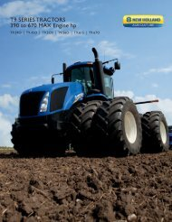 T9 SERIES TRACTORS 390 to 670 MAX Engine hp - New Holland