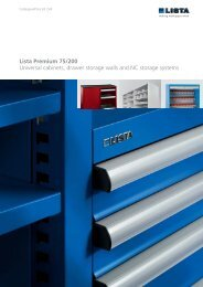 Lista Premium 75/200 Universal cabinets, drawer storage walls and ...