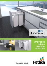 Innovative Hidden Storage Solutions - Hettich