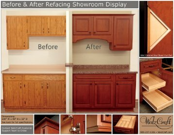 Before & After Refacing Showroom Display From WalzCraft