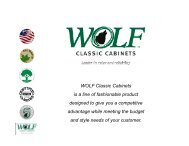 WOLF Classic Cabinets - Taylor Made Kitchens