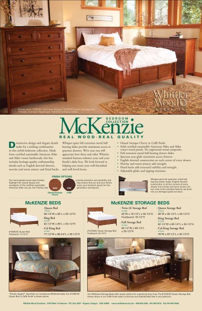 Brilliant Whittier Wood Products 2012 Mckenzie Flyer Pdpeps Interior Chair Design Pdpepsorg