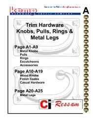 Trim Hardware Knobs, Pulls, Rings & Metal Legs
