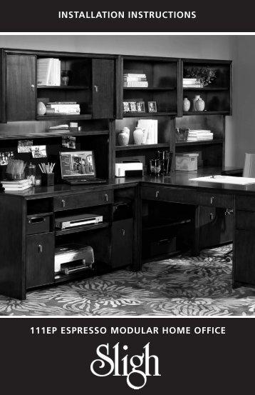 111EP ESPRESSO MODULAR HOME OFFICE ... - Sligh Furniture