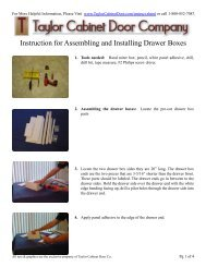 Instruction for Assembling and Installing Drawer Boxes