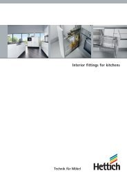 Interior fittings for kitchens - Hettich