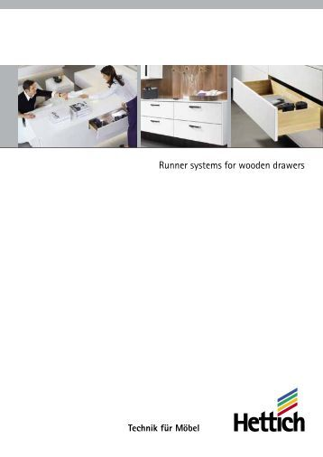 Catalogue runner systems for wooden drawers - Hettich