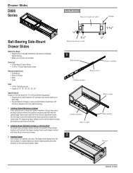 Pair 12 300mm B-Line High Quality Bottom Mount Drawer Slide 75-Pound Capacity Side Mount
