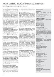 JOSIAS GASSER, BAUMATERIALIEN AG ... - Solar Agentur Schweiz
