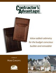 Value added cabinetry for the budget conscious builder and remodeler