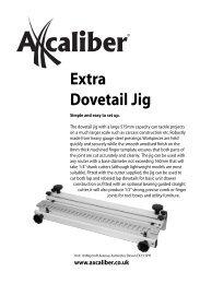 User Manual - Axminster Tool Centre