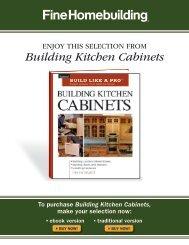 Building Kitchen Cabinets - Fine Homebuilding