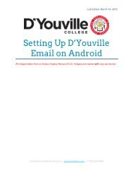 E-mail set up for Android (PDF) - D'Youville College