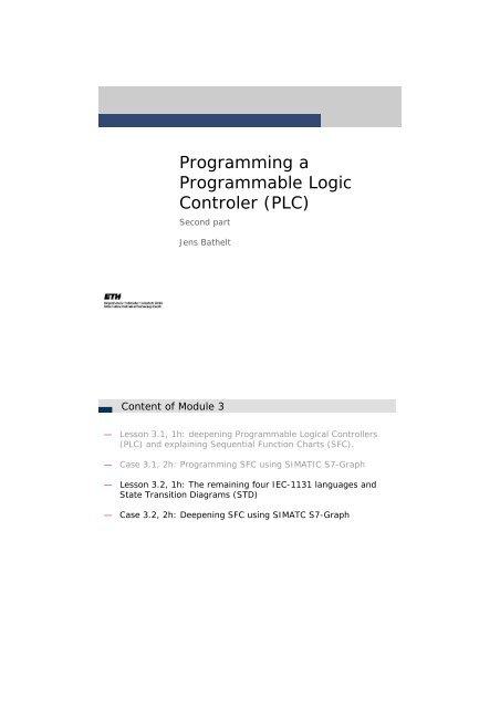 Programming A Programmable Logic Controler Plc