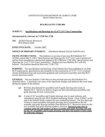 Bulletin 1728F-804: Specifications and Drawings for 12.47/7.2 kV ...