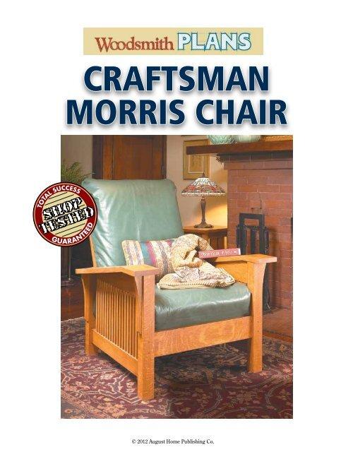 Craftsman Morris Chair Woodsmith Shop