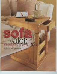 Sofa Valet End Table Plans