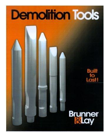 Brunner & Lay Demolition Tools Catalog